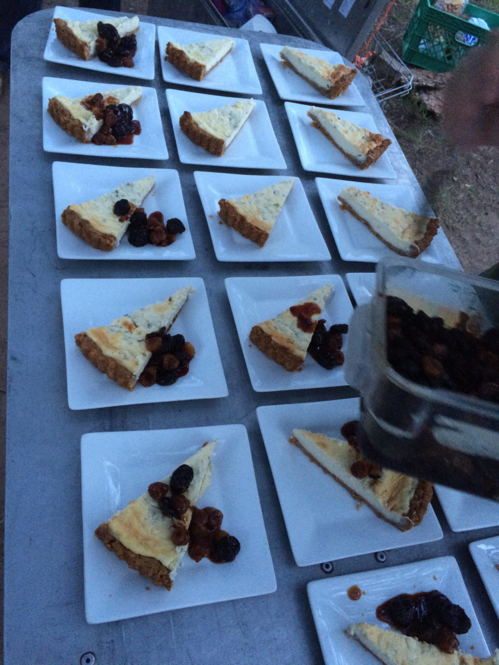 Fruit pie during a gourmet wine adventure in new mexico
