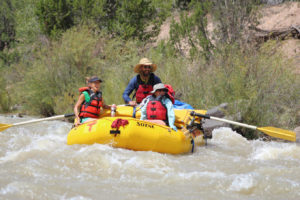 Oar boat, whitewater rafting in New Mexico